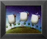 Insomniac Sheep Print by Rob Scotton