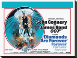 Diamonds are Forever-Circle Stretched Canvas Print