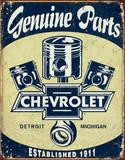 Chevrolet - Chevy Genuine Parts Pistons Plechová cedule