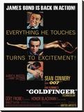 Goldfinger-Excitement Reproduction transférée sur toile