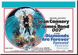 Diamonds are Forever-Circle Lærredstryk på blindramme