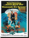Diamonds are Forever-Claw Stretched Canvas Print