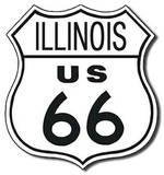 Route 66 - Illinois Highway Road Blikskilt