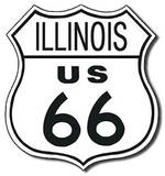 Route 66 - Illinois Highway Road Tin Sign