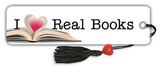 I Love Real Books Bookmark Bookmark