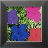 Andy Warhol - Flowers (Purple, Blue, Pink, Red) - Poster
