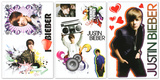 Justin Bieber Peel and Stick Removable Reusable Decorative Decals Sticker Pack 3 Sheets Stickers