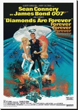Diamonds are Forever-Claw Lærredstryk på blindramme