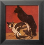 Cats, 1910 Art by Th&#233;ophile Alexandre Steinlen