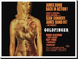 Goldfinger-Projection Stretched Canvas Print