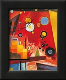 Kraftig rød Kunst af Wassily Kandinsky