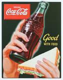 Coke - Good with Food Plaque en métal
