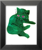 Green Cat, c.1956 Art by Andy Warhol