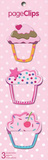 Cupcakes Page Clips Bookmarks Bookmark