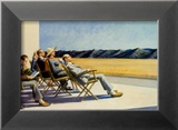 Gens au soleil, 1960 Affiche par Edward Hopper