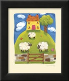 Yellow Farmhouse Prints by Sophie Harding
