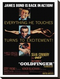 Goldfinger-Excitement Stretched Canvas Print