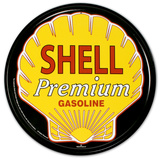 Shell Premium Gasoline Logo Cartel de chapa