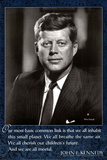 John F Kennedy Quote Basic Link Art Poster Print Posters