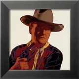 Cowboys and Indians: John Wayne 201/250, 1986 Lmina por Andy Warhol