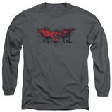 Long Sleeve: The Dark Knight Rises - Fear Logo T-Shirt
