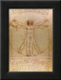 Vitruvianischer Mensch|Vitruvian Man, ca. 1492 Poster von  Leonardo da Vinci