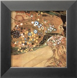 Serpientes acuticas IV Pster por Gustav Klimt