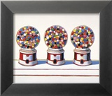 Three Machines, 1963 Poster di Wayne Thiebaud
