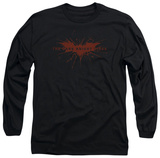 Long Sleeve: The Dark Knight Rises - Distressed Bat T-Shirt
