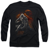 Long Sleeve: The Dark Knight Rises - Grungy Knight Shirt