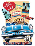 I Love Lucy - On the Road Again TV Plaque en m&#233;tal