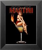 Red Hot Martini Kunstdruck von Ralph Burch