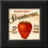 Sweet and Juicy Strawberries Posters by David Carter Brown