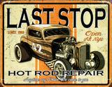 Last Stop Hot Rod Repair Plakietka emaliowana