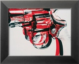Gun, c.1981-82 (black and red on white) Pster por Andy Warhol