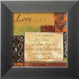 Ord at leve efter: Kærlighed, på engelsk Posters af Debbie DeWitt