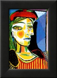 Girl with Red Beret Kunstdrucke von Pablo Picasso