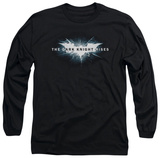 Long Sleeve: The Dark Knight Rises - Cracked Bat Logo Shirts