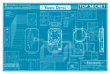 Warehouse 13 Farnsworth Blueprint Replica TV Poste Print