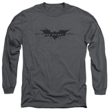 Long Sleeve: The Dark Knight Rises - Scratched Logo T-Shirt