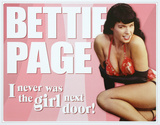 Bettie Page - Not the Girl Next Door Placa de lata