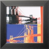 Brooklyn Bridge, c.1983 (black bridge/white background) Láminas por Andy Warhol