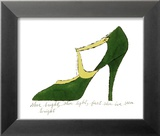 Shoe, c.1955 (Green and Yellow) Posters by Andy Warhol