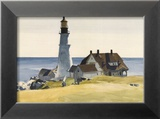 Lighthouse and Buildings, Portland Head, Cape Elizabeth, Maine, c.1927 Affiches par Edward Hopper