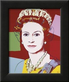 Reigning Queens: Queen Elizabeth II of the United Kingdom, c.1985 (Dark Outline) Arte por Andy Warhol