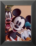 Mickey, Donald, and Goofy: Friends Forever Print