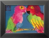 Two Parrots Posters van Walasse Ting