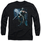 Long Sleeve: The Dark Knight Rises - Balttlefield Gotham T-Shirt
