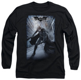 Long Sleeve: The Dark Knight Rises - Crumbled Poster T-shirts