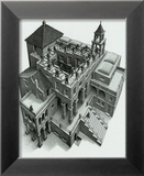 Ascendant et descendant Posters par M. C. Escher
